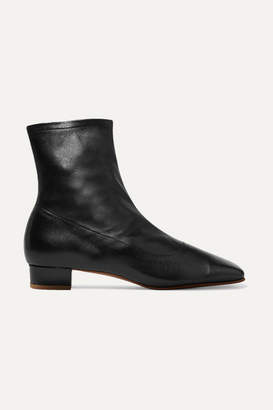 BY FAR - Este Leather Ankle Boots - Black
