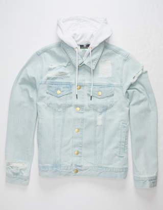 Lrg Hooded Two For Mens Denim Jacket