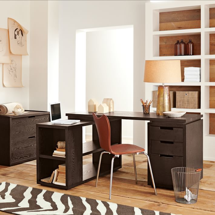 west elm Modular File Cabinet - Chocolate