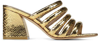 Donald J Pliner WES, Python Print Leather Heeled Sandal