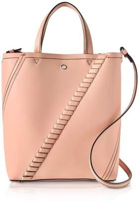 Proenza Schouler Deep Blush Mini Grain Leather Hex Tote Bag