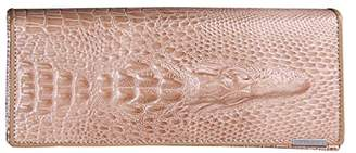 SODIAL(R) Women Wallet Female 2016 Coin Purses Holders Genuine Leather 3D Embossing Alligator Ladies Crocodile Long Clutch Wallets£ ̈£©