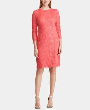 American Living Scalloped Lace Dress