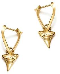 ICONERY x Andrea Linett 14K Yellow Gold Small Triangle Hoop Earrings with Shark Tooth Charms - 100% Exclusive
