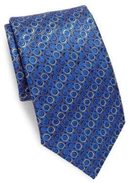 Canali Ring-Pattern Silk Tie