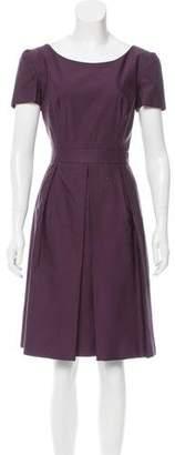 Prada Wool & Silk-Blend A-Line Dress