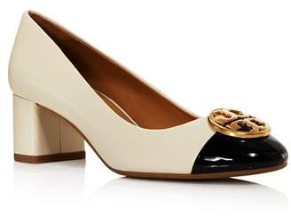 Tory Burch Women's Chelsea Cap Toe Block Heel Pumps