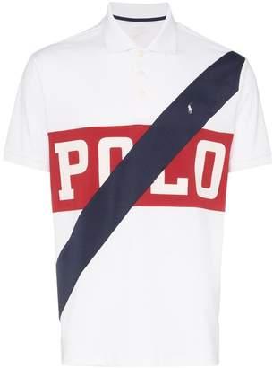 Polo Ralph Lauren logo stripe polo shirt