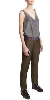 Clara Kaesdorf Gray Silk Top