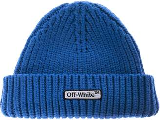 Off-White Off White Logo Patch Ribbed Beanie