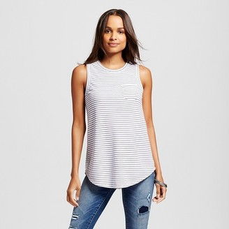 Merona Women's Striped Structured Top White - Merona $16.99 thestylecure.com