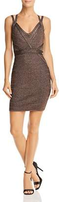 GUESS Mirage Metallic Strappy Body-Con Dress