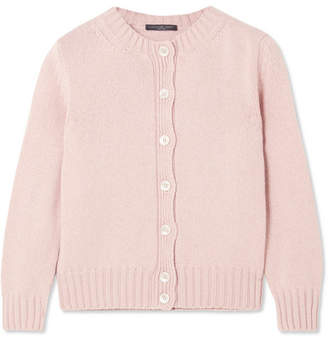 Cashmere And Wool-blend Cardigan - Pastel pink