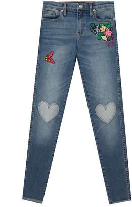 Juicy Couture Denim Heart Patch Skinny Jean for Girls
