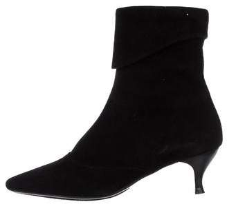 Aquatalia Pointed-Toe Mid-Calf Boots