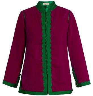 Muzungu Sisters - Dalia Velvet Jacket - Womens - Green Multi