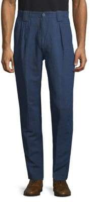Etro Manhattan Linen & Cotton Pants