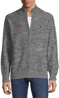 U.S. Polo Assn. USPA Mens Mock Neck Long Sleeve Layered Sweaters