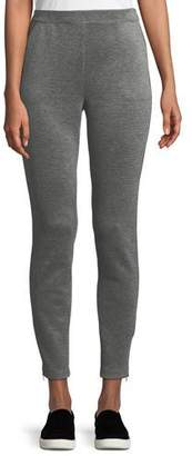 St. John Birdseye Double-Knit Cropped Pants