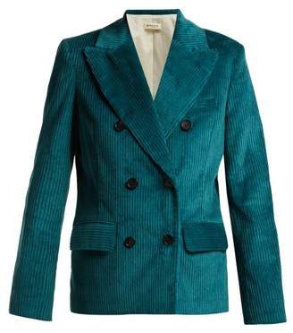 Masscob Lukas Double Breasted Corduroy Blazer - Womens - Blue