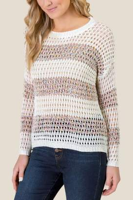 francesca's Trinity Open Stitch Pullover Sweater - Ivory
