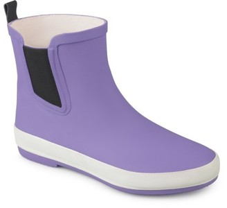 Brinley Co. Women's Rubber Sporty Solid Color Rainboots