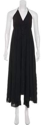 Alice + Olivia Sleeveless Silk Maxi Dress