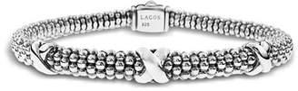 Lagos Signature Sterling Silver X Trio Caviar Bracelet