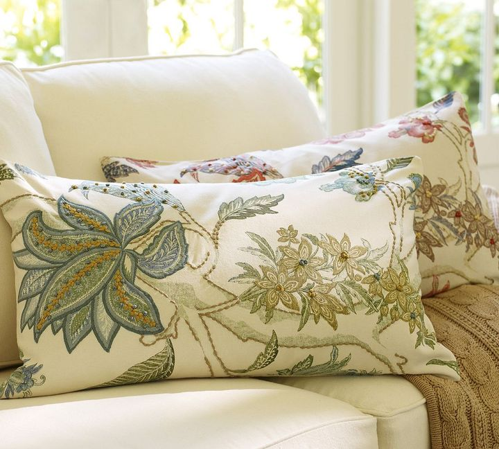 Pottery Barn Guiliana Palampore Embroidered Lumbar Pillow Cover