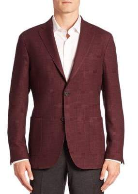 Saks Fifth Avenue COLLECTION Plaid Wool Suit Jacket