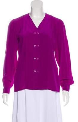 Saint Laurent Vintage Long Sleeve Button-Up Top