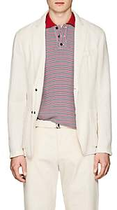 Barena Venezia Men's Malbec Knit Cotton-Blend Three-Button Sportcoat - White