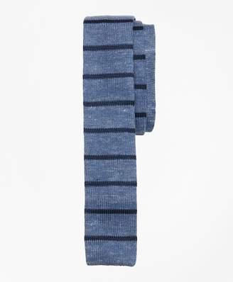 Brooks Brothers Striped Linen-Silk Knit Tie