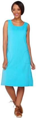 Denim & Co. Beach Sleeveless A-line Tank Dress