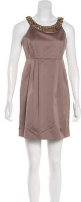 Burberry Embellished Sheath Dress