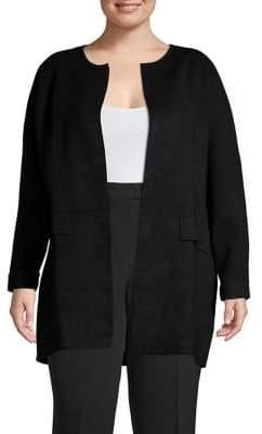 Rafaella Plus Open-Collar Duster Jacket