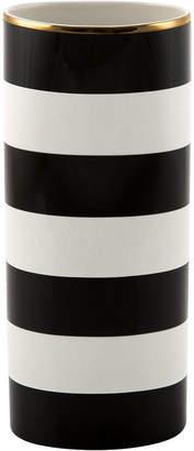 Kate Spade Everdone Lane Black & White Stripe Vase