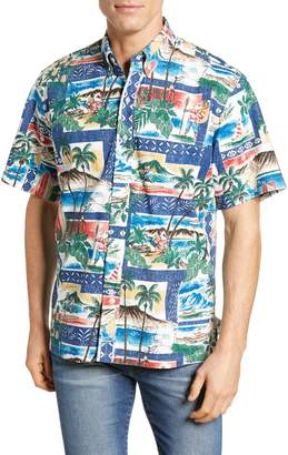 Reyn Spooner Hawaiian Christmas 2018 Classic Fit Sport Shirt