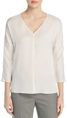 BOSS Inuka Drop-Shoulder Silk Blouse