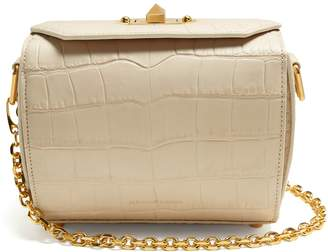 Alexander McQueen Box Bag 19 crocodile-effect leather shoulder bag