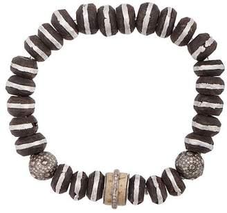 Loree Rodkin wood beaded bracelet