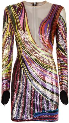 Balmain Multicolor Sequin Dress