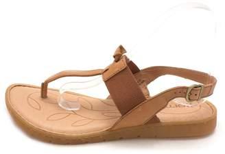 b.ø.c. Womens Siri Leather Open Toe Casual Slingback Sandals, Brown, Size 7.0
