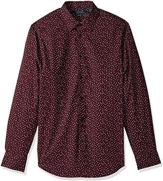 Perry Ellis Men's Long Sleeve Graphic Linear Print Shirt