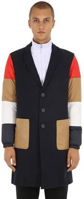 Lc23 Wool Coat W/ Patchwork Sleeves
