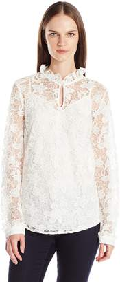 NYDJ Women's Victorian Lace Blouse