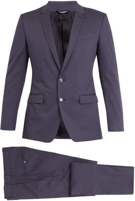 Dolce & Gabbana Martini peak-lapel stretch-cotton suit