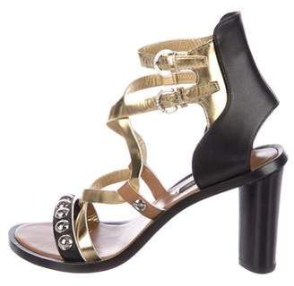 Louis Vuitton Studded Crossover Sandals
