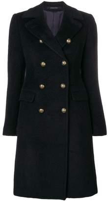 Tagliatore buttoned midi coat