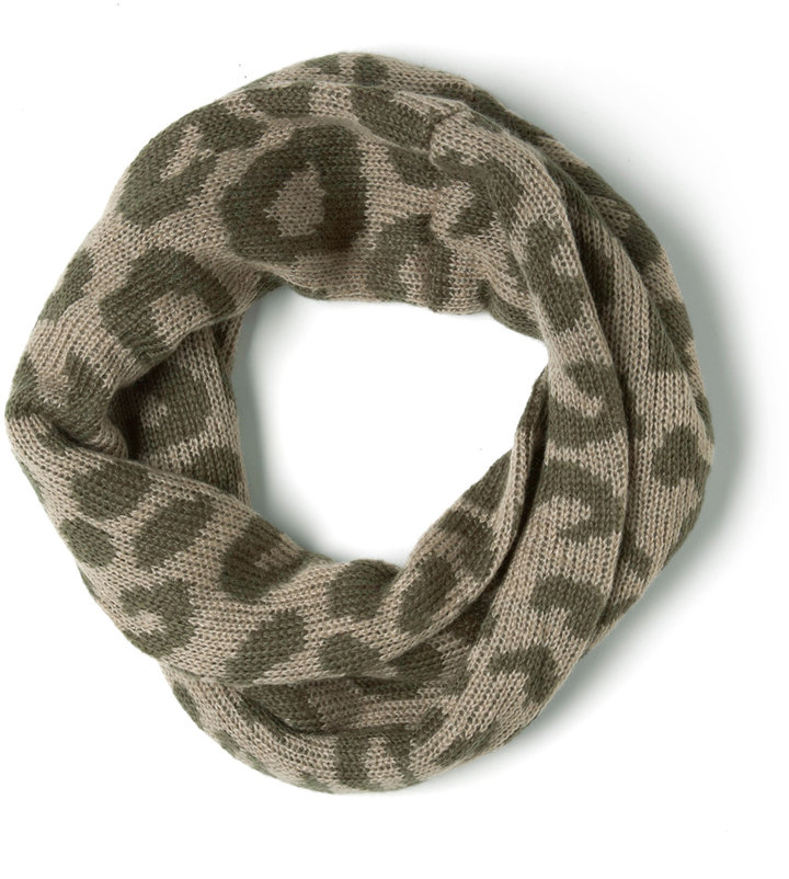 Wild about Warmth Infinity Scarf in Leopard